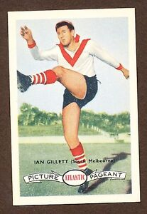 1958 Atlantic Petrol South Melbourne Ian Gillett card no. 88