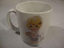 Precious Moments White Ceramic Coffee Tea CoCo Hot Mug Boy Girl Dog Christmas
