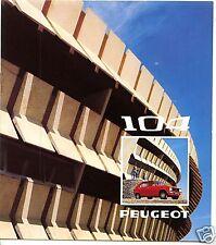 PEUGEOT 104 berlina , Catálogo 1974