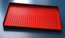 5 X Dental STRUMENTI IN ALLUMINIO VASSOIO perforato 28x18cm autoclavable-red