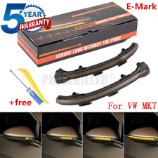 Smoked LED Dynamic Turn Signal Light Mirror Indicator For VW Golf MK7 GTI NEW OJ