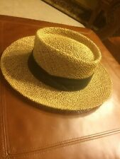 Golf Straw Hat USA Made One Size Fits All Black Band