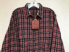 New Men's French Connection Lightweight Plaid Flannel Shirt Size M 100% Cotton