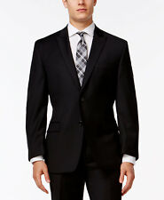 $750 CALVIN KLEIN Mens Slim Fit Wool Sport Coat Black SUIT JACKET BLAZER 44 R