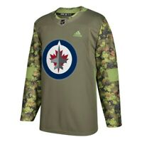 Winnipeg Jets NHL Adidas Camo 17-18 Authentic Armed Forces Camo Practice Jersey