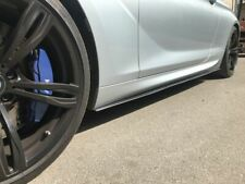 Carbon Fiber Side Skirt blades  For BMW 6 Series F06 F12 F13 add on pair set