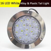 16LED Round Tail Lights Reverse Lamp For Truck Trailer SUV Boat Alloy & Plastic