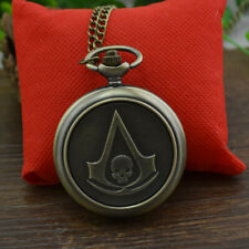 Assassin's Creed Quartz Pocket Watch Metal Watch Collectible Kids Gifts with Box