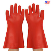 High Voltage 12kv Insulated Safety Electrical Insulating Gloves For Electricians