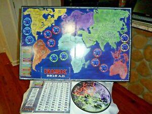 AVALON HILLL RISK 2210 AD GAME~~2001~EARTH & MOON GAMEBOARD & SCORECARD