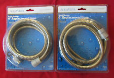 """Two Aqua Vista 6' Replacement Shower Hose Brushed Nickel Stainless Steel 72"""""""