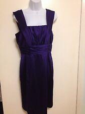 Donna Morgan Satin Cocktail Bridesmaid Dress Purple Size 10 NEW w tags