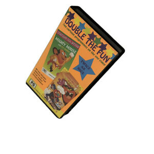 Mighty Mouse & My Pet Monster VHS Vintage Plus More 60 Mins PG Multiple Episodes