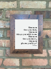 A4 Dr Seuss Quote Print Unframed More Places You'll Go Wall Minimalist
