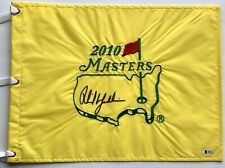 Phil Mickelson signed 2010 Masters flag autographed pga augusta golf beckett coa