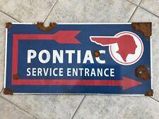 Antique style vintage look GM Pontiac dealer service Indian arrow  parts sign