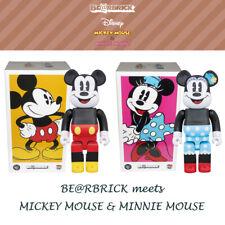 Medicom Be@rbrick Bearbrick meets Disney Mickey Mouse & Minnie Mouse 400% Figure