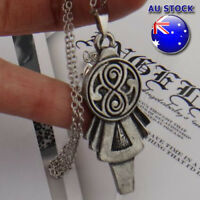 Wholesale Doctor Who gun Metal Lady Key pendant Chain necklace Cosplay