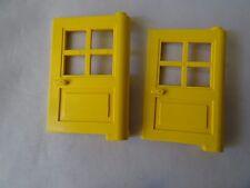 PART 3861 YELLOW 1 x 4 x 5 DOORS WITH 4 WINDOW PANES x 2