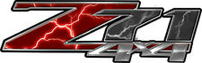 "Chevy Silverado Z71 4x4 Truck Decals Lightning Red 13"" REFLECTIVE 050"