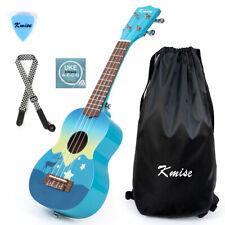 More details for kmise soprano ukulele 21 inch basswood+carry bag string strap pick for kids