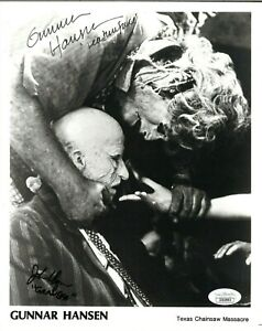 Gunnar Hansen / John Dugan - Texas Chainsaw Massacre - Autographed 8x10 - JSA