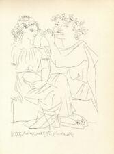PABLO PICASSO -  FLAUTIST AND A GIRL WITH TABRET * RARE PRINT SUITE VOLLARD 1956