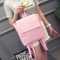Boy Girl Canvas School Shoulder Bags Travel Backpack Satchel Messenger Rucksacks