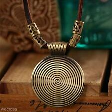 Handmade Vintage Pendant Charm Leather Cord Necklace Jewelry Gift for Women Men