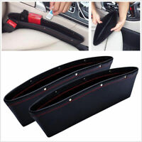 2x Leather Car iPocket Box Caddy Seat Gap Slit Pocket Bag Storage Organizer HQ