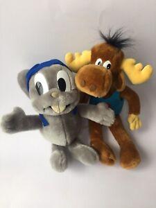 Vintage 1991 Rocky And Bullwinkle Plush Toys