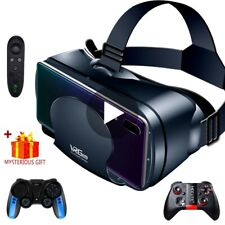 3D VR Headset Virtual Reality Smart Glasses Helmet Smartphones 7 Inches Lenses