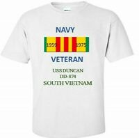 USS DUNCAN  DD-874 *SOUTH VIETNAM*VIETNAM VETERAN RIBBON1959-1975 SHIRT