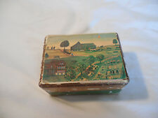 Vintage Reuge music box farmland scene Switzerland