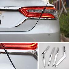 4x Chrome ABS Car Rear Tail Light Lamp Eyebrow Strip Trim For Toyota Camry 2018