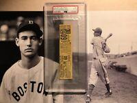 1941 Boston Red Sox New York Yankees Ticket Ted Williams .406 Season