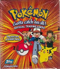 POKEMON 1 TV ANIMATION 1998 TOPPS FACTORY SEALED TRADING CARD BOX OF 36 PACKS AN
