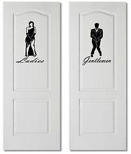 Large Gents & Ladies Bathroom Toilet WC Sign Wall Door Decal Vinyl Sticker Decor