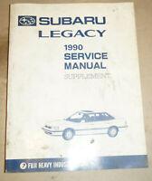 1990 Subaru Legacy Supplement Service Shop Manual P/N G202BE