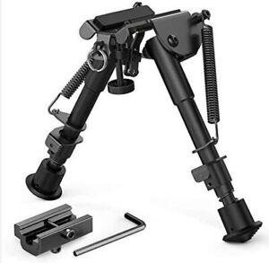 "6~9"" Rifle Bipod QD Tactical Picatinny Rail Flat Spring Adjustable Hunting Metal"