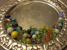 VINTAGE Antique Glass MARBLES, DIFFERENT SIZES AND COLORS