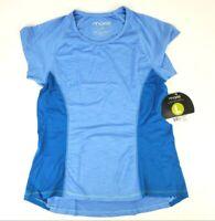 Moxie Cycling Womens Azure Blue Colorblock T Shirt Short Sleeve Size L NEW