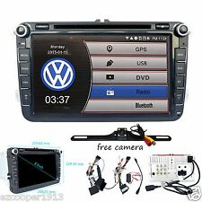 Free Camera 2 DIN Car Radio DVD Player GPS Stereo for VW MK5 Golf Passat Jetta