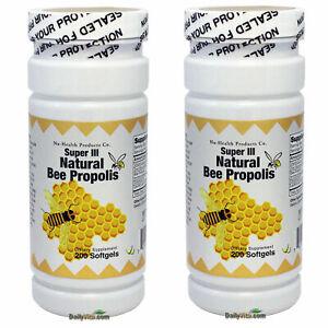 2x Super Natural Brazil Bee Propolis 200 Softgels Fresh Made In USA, Global Ship
