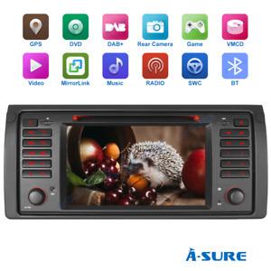 7'' Car Stereo DVD VMCD GPS SWC DAB+ Audio Radio Sat Nav For BMW E39 M5, X5, E53