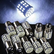 10x White BAY15D 1157 64 SMD LED Car Tail Stop Brake Light Super Bright Bulb 12V