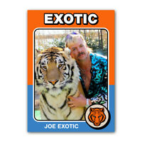 1970s Style Joe Exotic Tiger King Retro Custom Novelty Baseball Trading Card