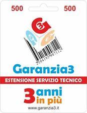 Estensione di Servizio Tecnico PC Garanzia3 Fino a 500 Euro GR3V-500