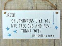 Childminder plaque sign Thank You Gift Personalised Keepsake Nursery Teacher