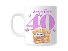 40th Birthday Special Friend Personalised Novelty Gift Mug